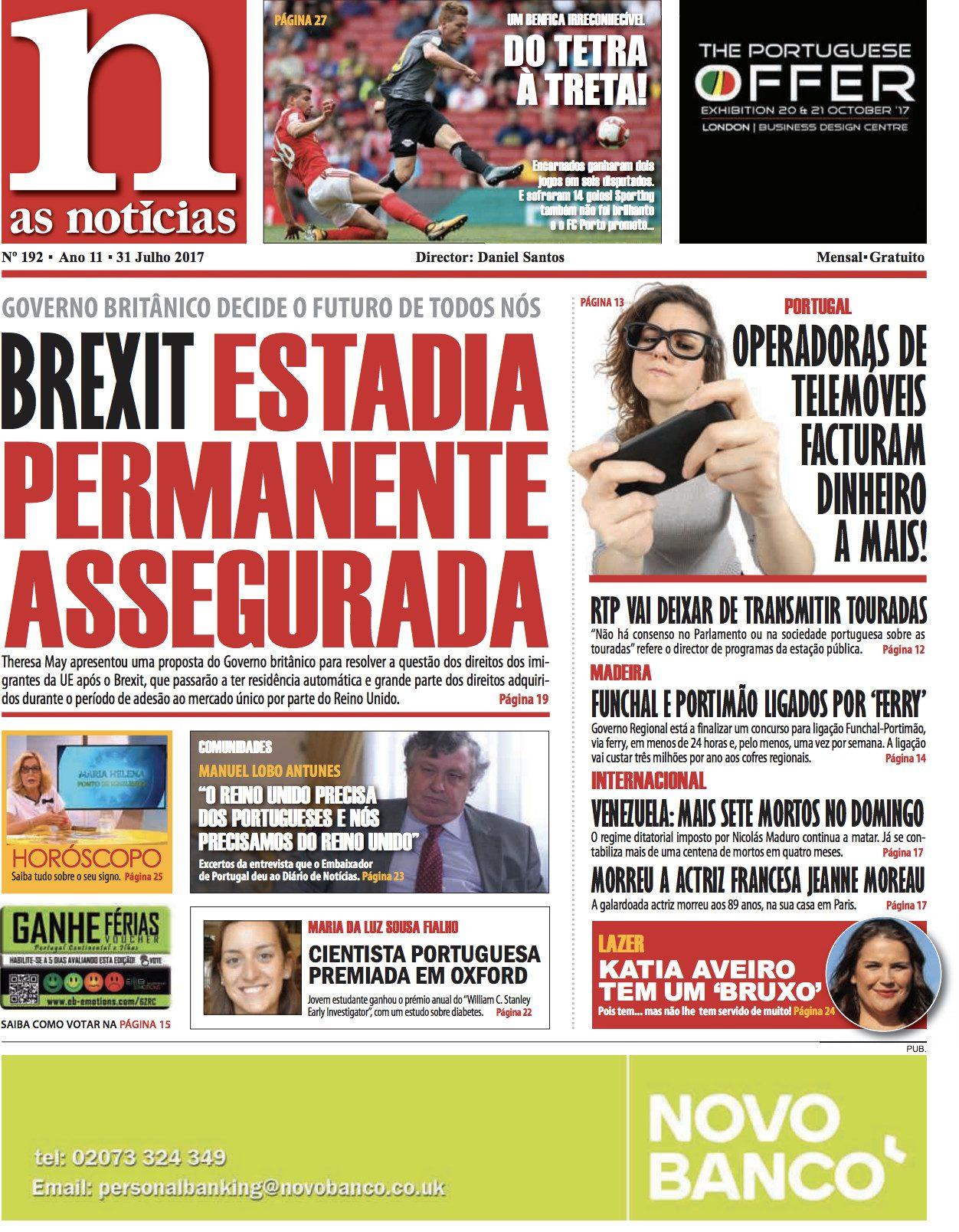 Edição 192 do jornal As Notícias