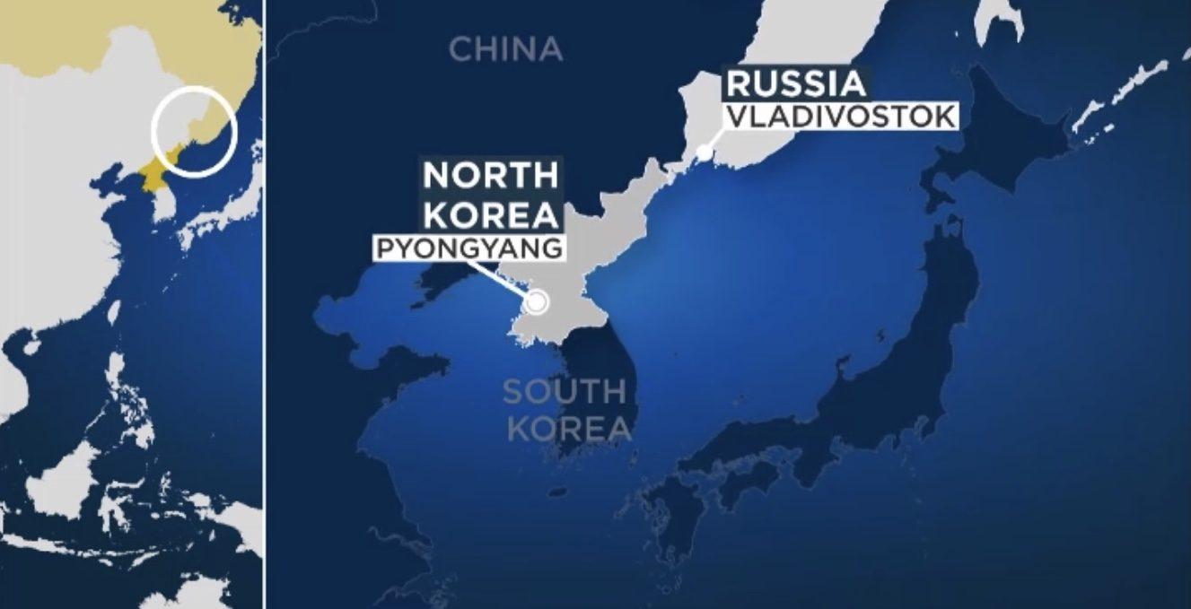Vladimir Putin, recebe Jong-un, o líder da Coreia do Norte