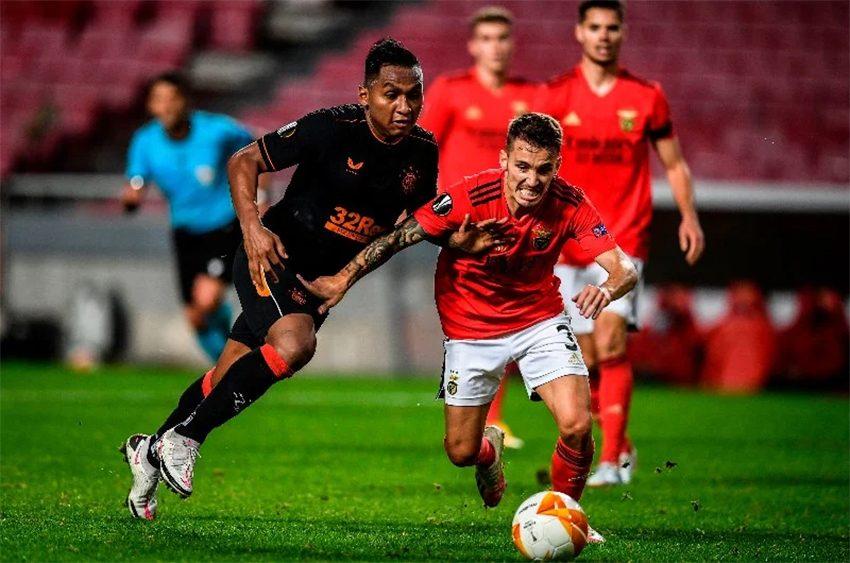 LE: Benfica recupera de 2-0 e empata em casa do Rangers